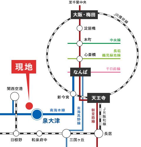 大阪府和泉市 プレミアタウン唐国Ⅳ 路線図