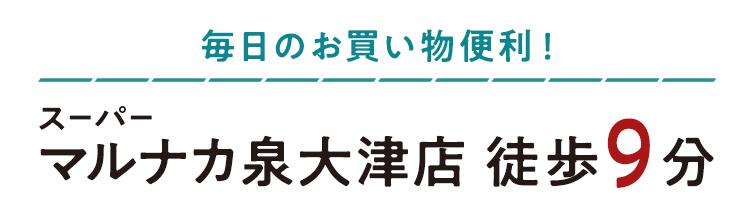 スーパーマルナカ泉大津店 徒歩9分