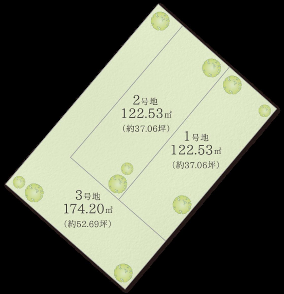 大阪府岸和田市 プレミアタウン額原 区画図