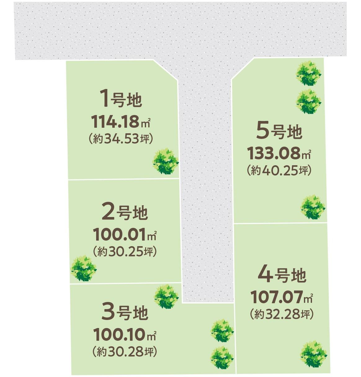 大阪府泉大津市 新築戸建 プレミアタウン板原町 区画図