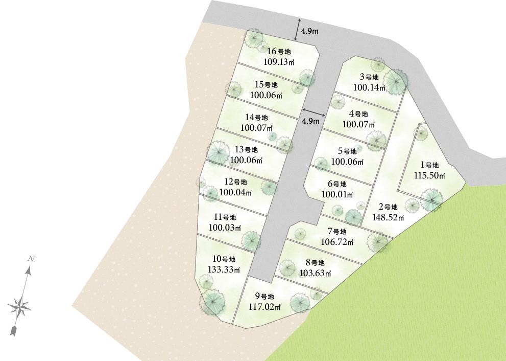 大阪府和泉市 プレミアタウン唐国Ⅳ 区画図