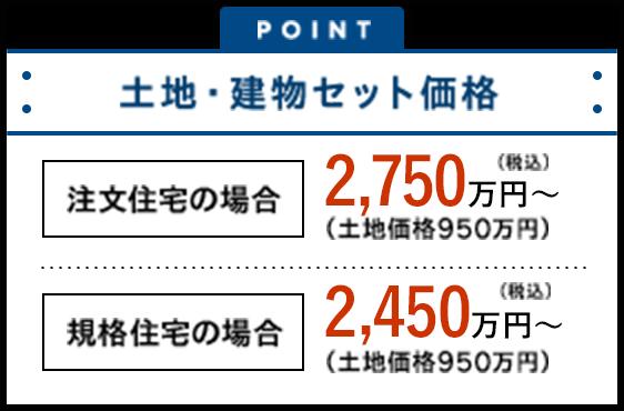 注文住宅2,680万円~ 規格住宅2,380万円~