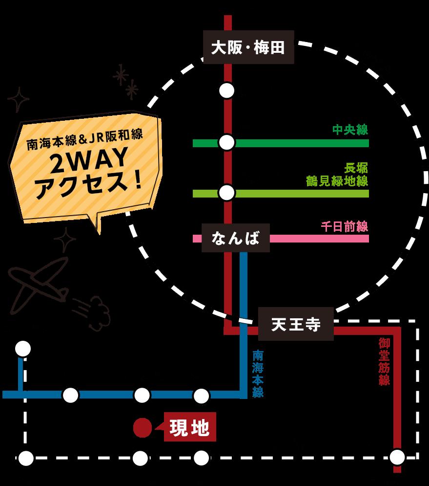 大阪府和泉市 プレミアタウン葛の葉Ⅳ 路線図