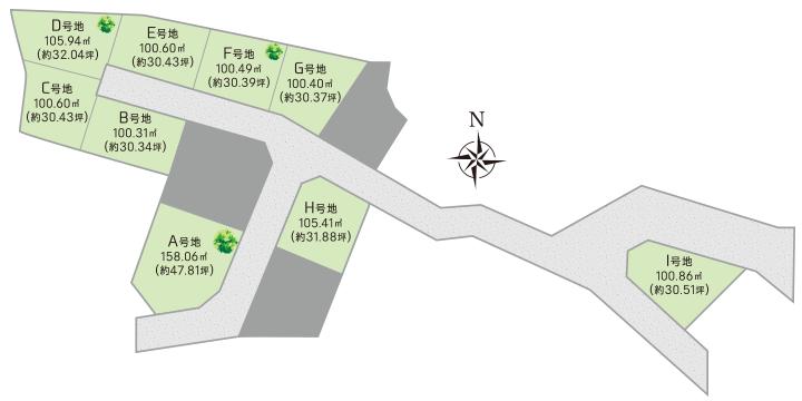 大阪府岸和田市 プレミアタウン下松Ⅱ 区画図
